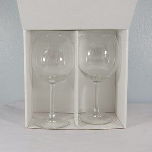 Other - Tipsy Wine Glasses  Set of two